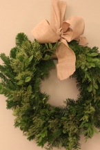 Holiday Wreath with Gold Tip Cedar